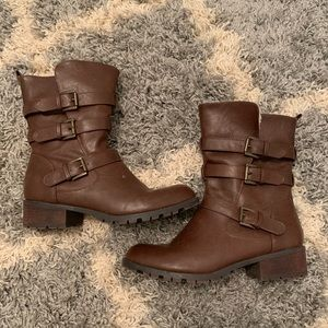 Just fab calf booties size 8